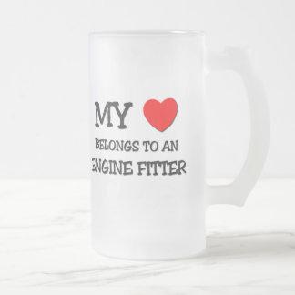 My Heart Belongs To An ENGINE FITTER Mugs
