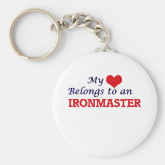 My Heart Belongs to an Ironmaster Basic Round Button Key Ring