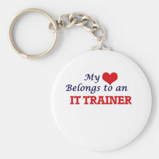 My Heart Belongs to an It Trainer Basic Round Button Key Ring