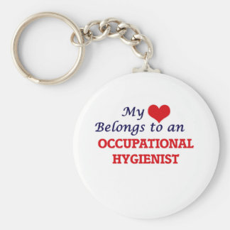 My Heart Belongs to an Occupational Hygienist Basic Round Button Key Ring