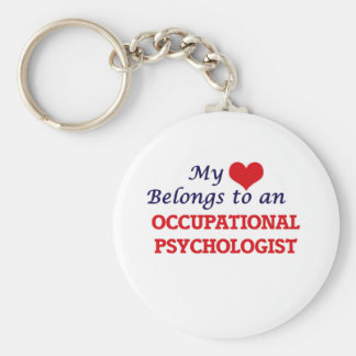My Heart Belongs to an Occupational Psychologist Basic Round Button Key Ring