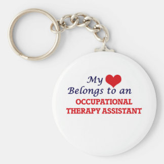 My Heart Belongs to an Occupational Therapy Assist Basic Round Button Key Ring
