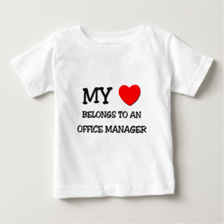 My Heart Belongs To An OFFICE MANAGER Tees