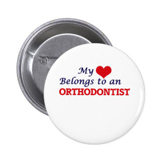 My Heart Belongs to an Orthodontist 6 Cm Round Badge