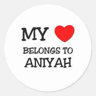 My Heart Belongs To ANASTASIA Round Stickers