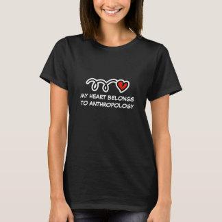 My heart belongs to anthropology   Women's t-shirt