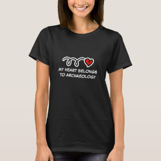 My heart belongs to archaeology | Women's t-shirt