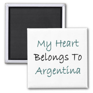 My Heart Belongs To Argentina Refrigerator Magnet