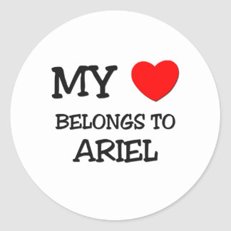 My Heart Belongs To ARIEL Sticker
