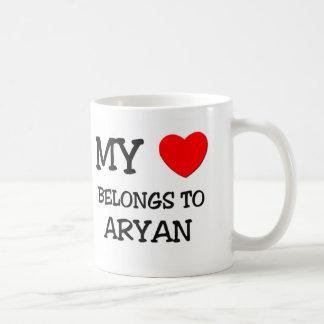 My Heart Belongs to Aryan Coffee Mugs