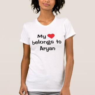 My heart belongs to Aryan Tshirts