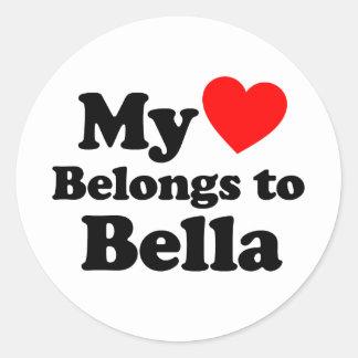 My Heart Belongs to Bella Stickers