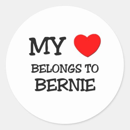 My Heart Belongs to Bernie Round Sticker