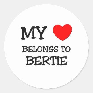 My Heart Belongs To BERTIE Round Stickers
