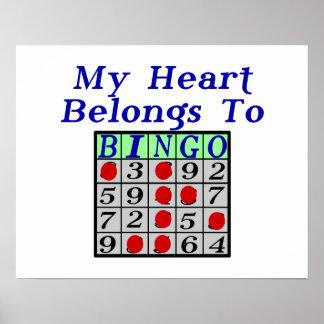 My Heart Belongs To Bingo Posters