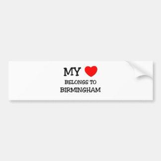 My heart belongs to BIRMINGHAM Bumper Sticker