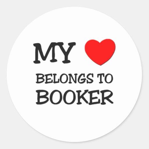 My Heart Belongs to Booker Stickers