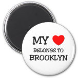 My Heart Belongs To BROOKLYN 6 Cm Round Magnet