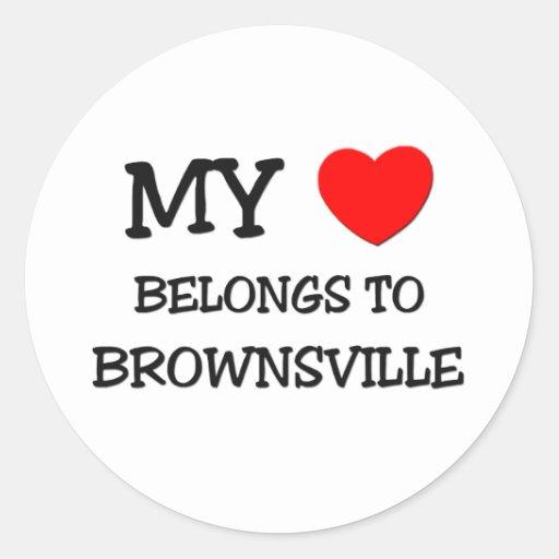 My heart belongs to BROWNSVILLE Stickers