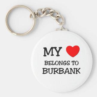 My heart belongs to BURBANK Basic Round Button Key Ring