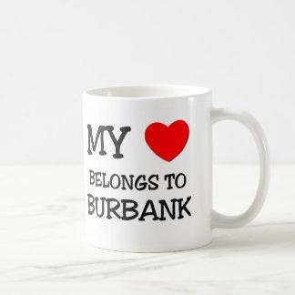 My heart belongs to BURBANK Basic White Mug