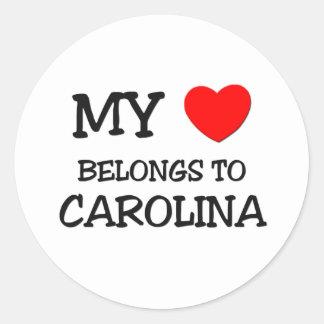 My Heart Belongs To CAROLINA Sticker