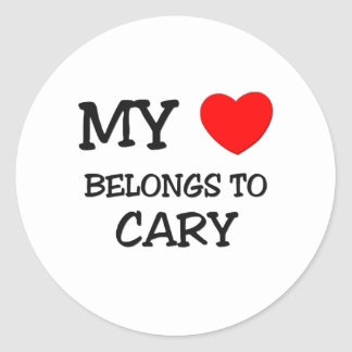 My Heart Belongs to Cary Stickers