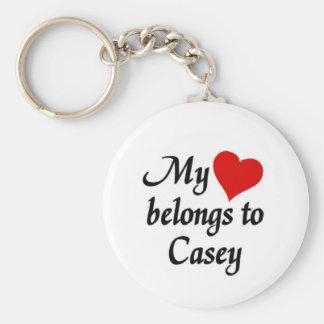My heart belongs to Casey Key Ring