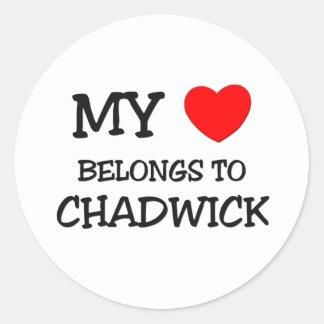 My Heart Belongs to Chadwick Sticker