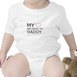 My Heart Belongs To Daddy Baby Bodysuit