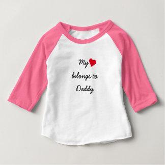 My Heart Belongs To Daddy Baseball Raglan T-Shirt