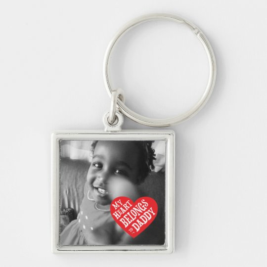 My Heart Belongs to Daddy Fathers Day Keychain