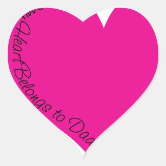 My Heart Belongs to Daddy Heart Sticker