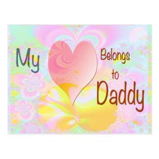 My Heart Belongs to Daddy (pastel background) Postcard