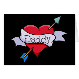 My Heart Belongs to Daddy Tat Greeting Card