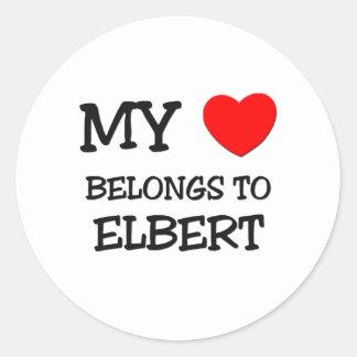 My Heart Belongs to Elbert Stickers