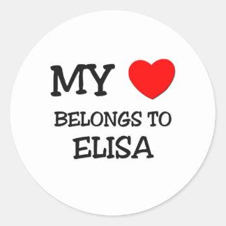 My Heart Belongs To ELISA Round Sticker