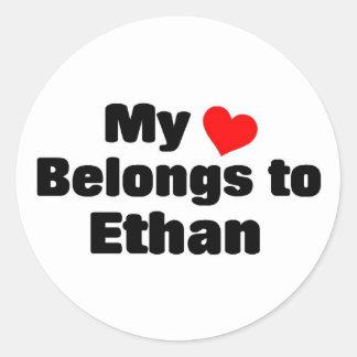 My heart belongs to Ethan Stickers