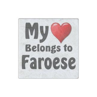 My heart Belongs to Faroese Stone Magnet
