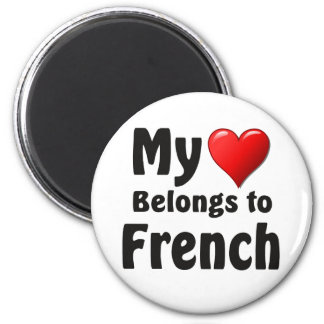 My heart Belongs to French Fridge Magnets