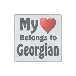 My heart Belongs to Georgian Stone Magnet