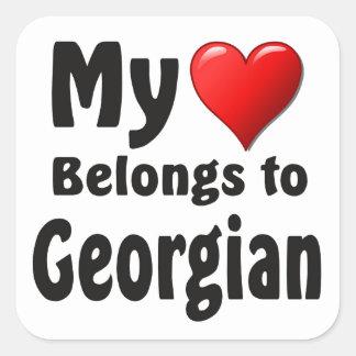 My heart Belongs to Georgian Square Sticker