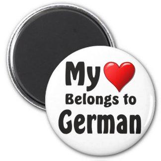My heart Belongs to German Fridge Magnet