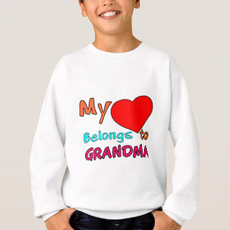 MY HEART BELONGS TO GRANDMA.png Sweatshirt