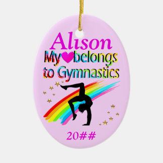MY HEART BELONGS TO GYMNASTICS CUSTOM ORNAMENT
