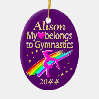 MY HEART BELONGS TO GYMNASTICS ORNAMENT