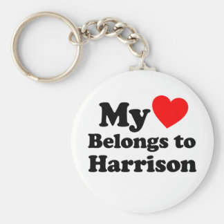 My Heart Belongs to Harrison Key Ring