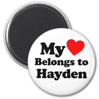 My Heart Belongs to Hayden Magnet