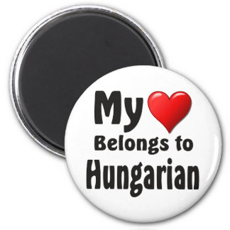 My heart Belongs to Hungarian Refrigerator Magnets