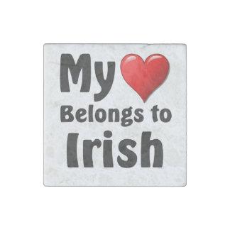 My heart Belongs to Irish Stone Magnet